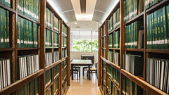 Green Bookshelves